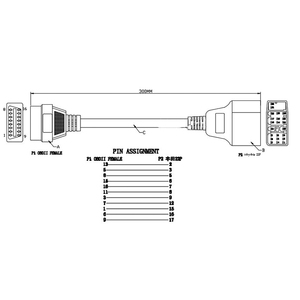 Image 5 - トヨタ 22Pin obdii 16Pin メスコネクタアダプタケーブル DLC リードトヨタ 17pin OBD ケーブル