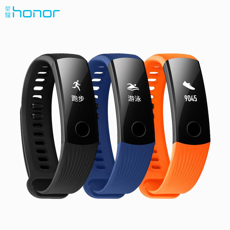 Original Huawei Honor Band 3 Smart Wristband Bracelet Swimmable 5ATM 0.91 OLED Screen Touchpad Heart Rate Monitor Push Message