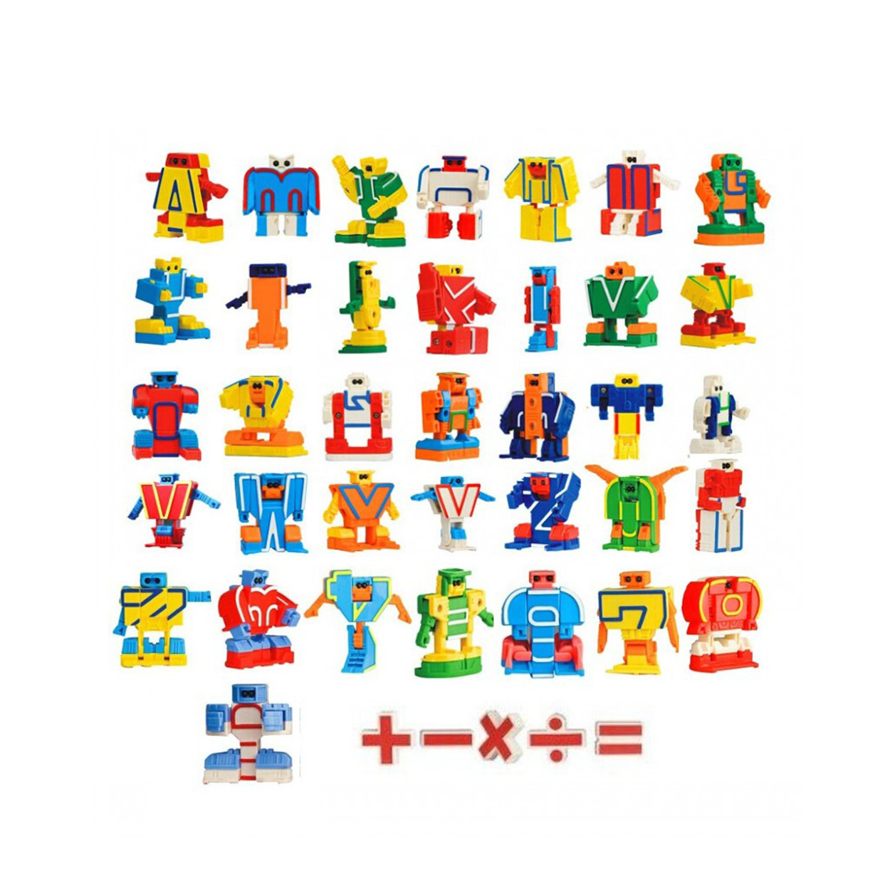 Chanycore Transformation Robot Alphabet Numeric Letters Numbers ABS Learning Educational Toys 5cm 10pcs/set 26pcs/set Gifts 4001