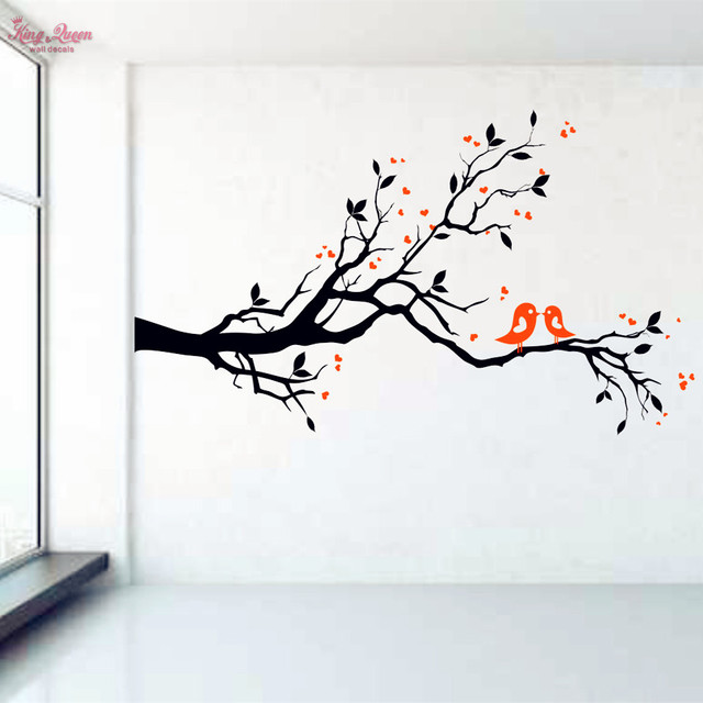 Birds On Tree Branch Vinyl Wall Decal Art Decorative Sticker Glass Window Stickers
