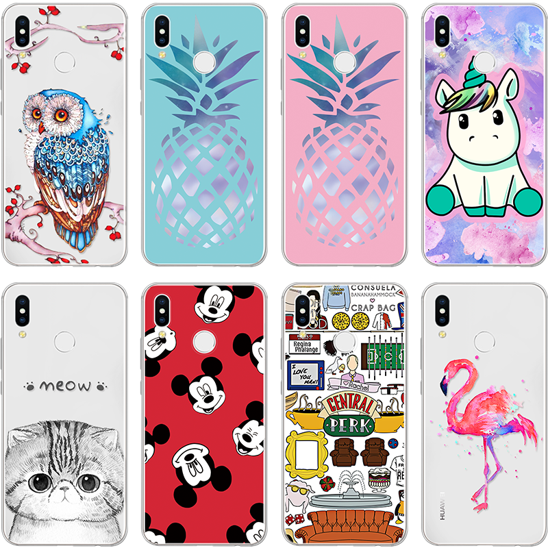 Pineapple Case For Cat Huawei <font><b>Honor</b></font> 4C 4X 5C 5X 6 6A 6C 6X 7 7i 7C 7X 8 8X <font><b>9</b></font> <font><b>9</b></font> <font><b>Lite</b></font> V9 Play V10 TPU Coque For <font><b>Honor</b></font> 7A Pro Case image