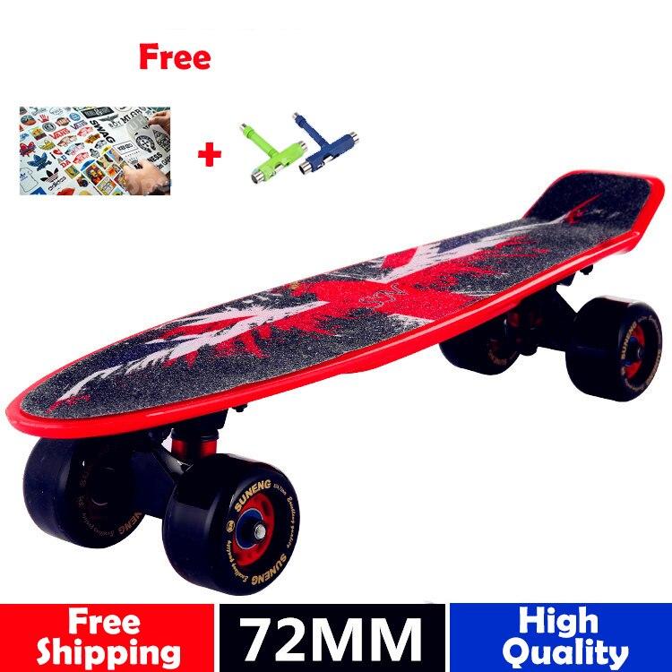 2018 Nouveau globe peny conseil d'origine complet grip Planche À Roulettes Rétro Mini long board Skate cruiser longboard 72mm grandes roues