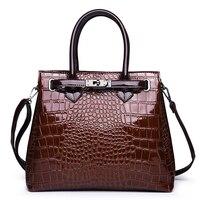 Luxury Crocodile Bags Women Handbags PU Leather Tote Bolsas Alligator Ladies Shoulder bags Large Capacity Top handle Sac A Main