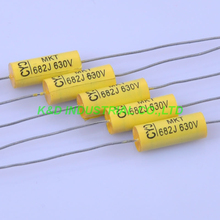 10pcs 6*15mm Tubular Poly Polyester Film Capacitor Axial 0.0068uf 683 630V