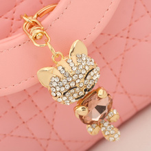 Super Cute! Gold and Rhinestone Handbag Charm