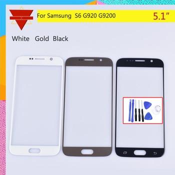 Pantalla táctil S6 para Samsung Galaxy S6 G920 G920F G920A G920FD G920I pantalla táctil Panel frontal lente de cristal exterior