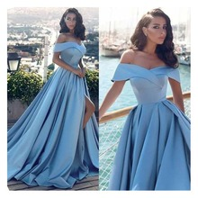 LORIE Elegant Women Evening Dress 2019 Off The Shoulder Floor Length Prom Dresses Formal Long Party Gown