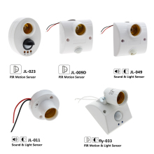 Lamp Base PIR Motion Sensor Detector /Sound Light Sensor Automatic Wall Lamp Holder Socket