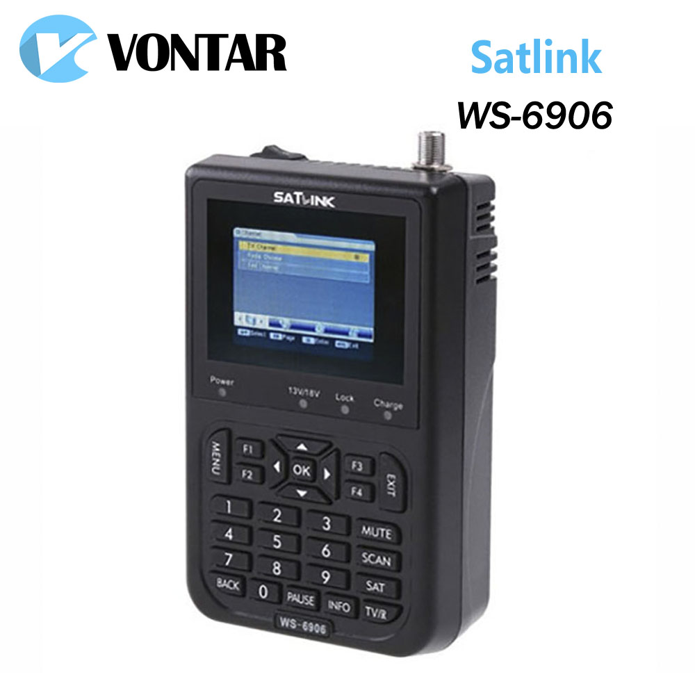 [Genuine] Satlink WS-6906 3.5 DVB-S FTA digital satellite meter satellite finder ws 6906 satlink ws6906 satlink ws 6906 dvb s fta digital satellite signal meter satellite finder supports diseqc 1 0 1 2 qpsk