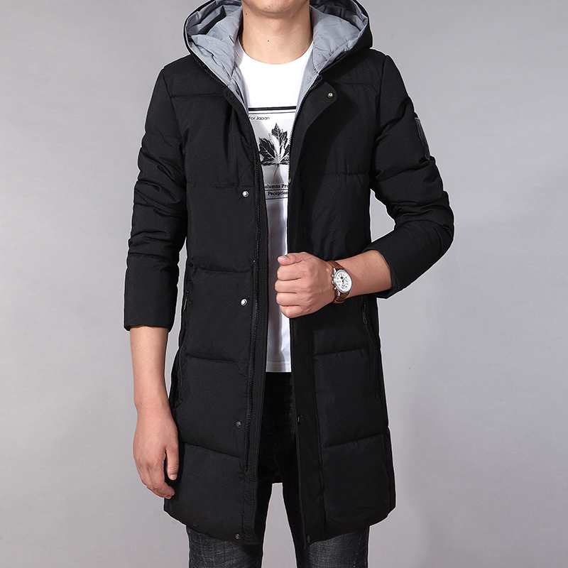 2019 New Arrival Winter Coat Men Fashion Cotton Padded Jacket Parka Long Coat Black Male Winter Coats Hooded Warm 6XL Big Size