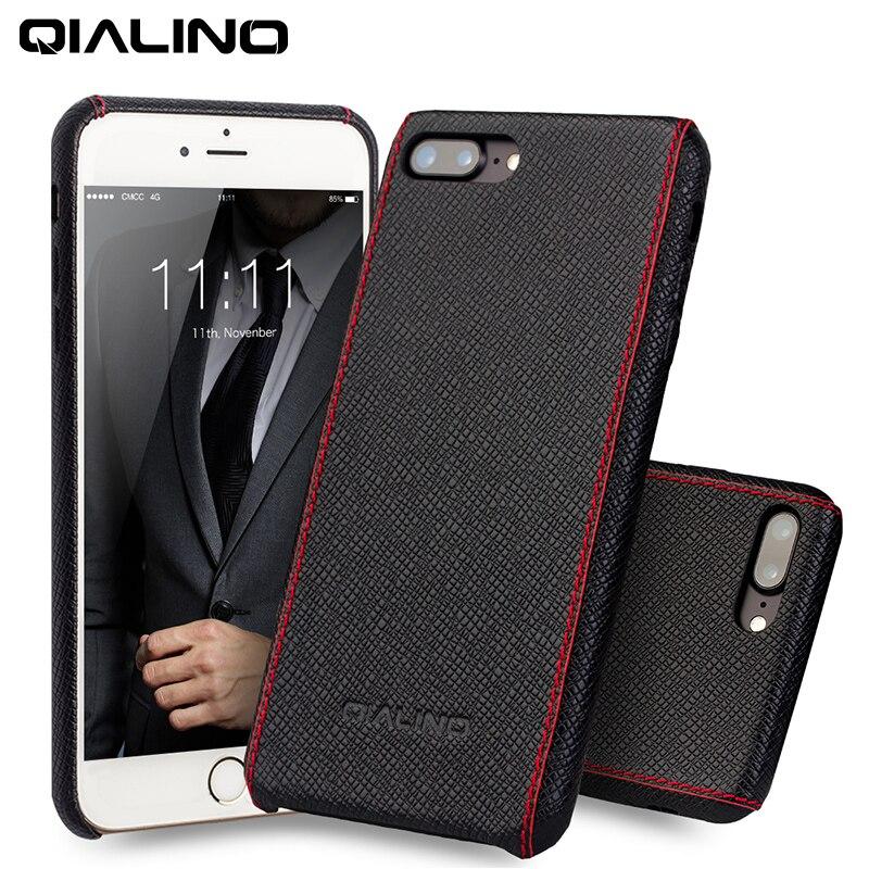 Цена за Qialino Роскошные телячьей кожи чехол для iPhone 6 6S Ultra Slim Case для iPhone 6/6S плюс натуральная кожа Обложка 4.7/ 5.5 дюйма
