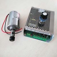CNC Spindle 200W Air Cooled Spindle Kit,0.2KW Motor Spindle with Power Supply Speed Governor For DIY