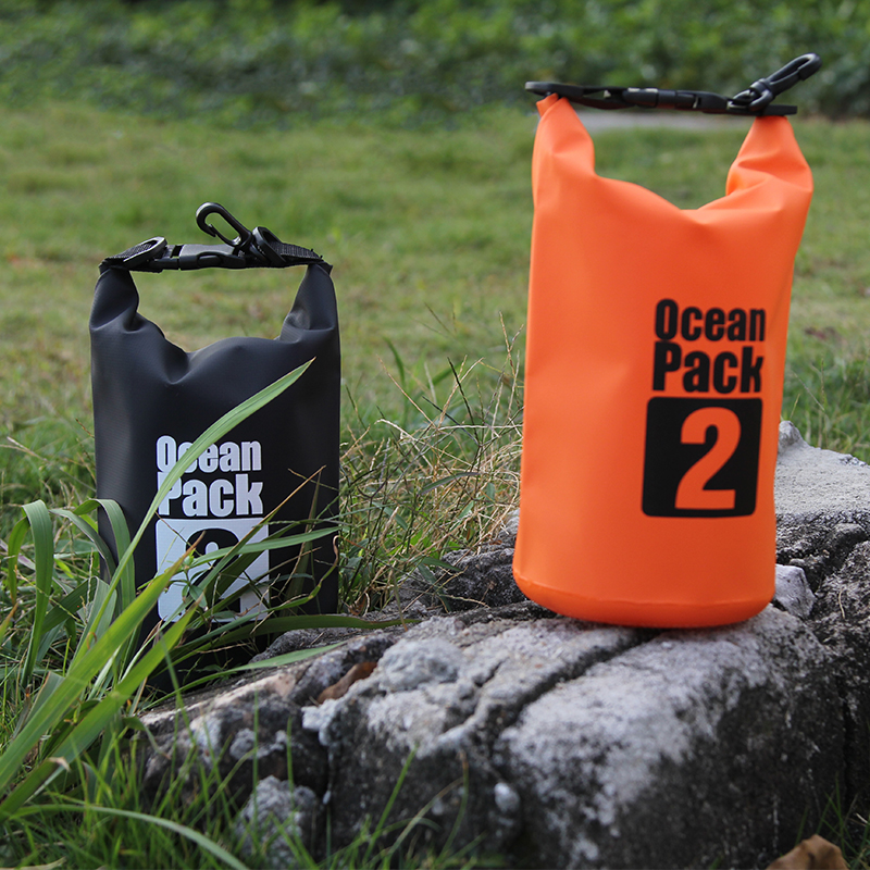 2L 5L 10L 20L Barrel-Shaped 500D PVC River Trekking Drifting Seal Rafting Bags Ocean Pack Waterproof Dry Bags Outdoor Backback