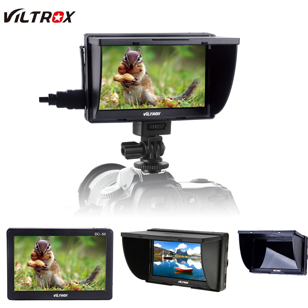 Viltrox DC-50 HD Clip-on Portable 5 Inch TFT LCD Monitor with HDMI Video Input for Canon Nikon Sony DSLR Camera Camcorder DV