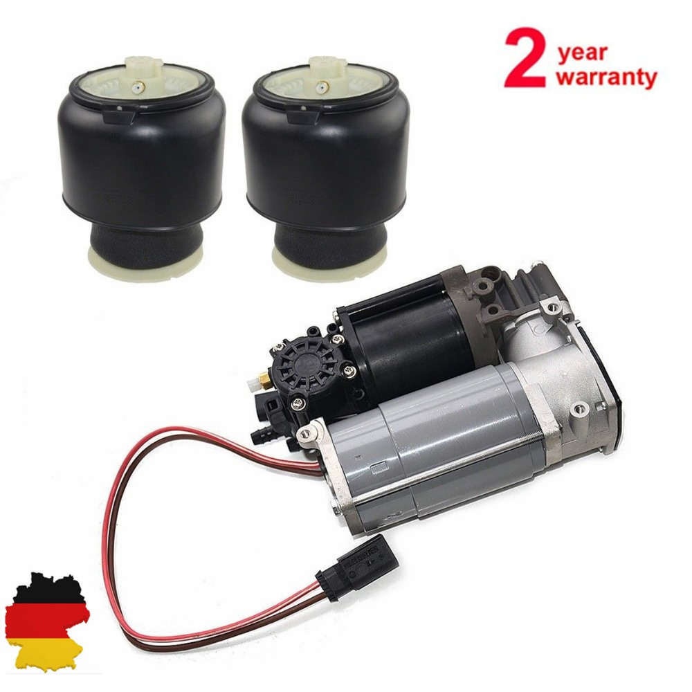 AP03 compresseur d'air pompe + 2 pc Suspension pneumatique ressort pour BMW 5 7 Series F01 F02 F04 F07 GT F11 37206864215 37106781827