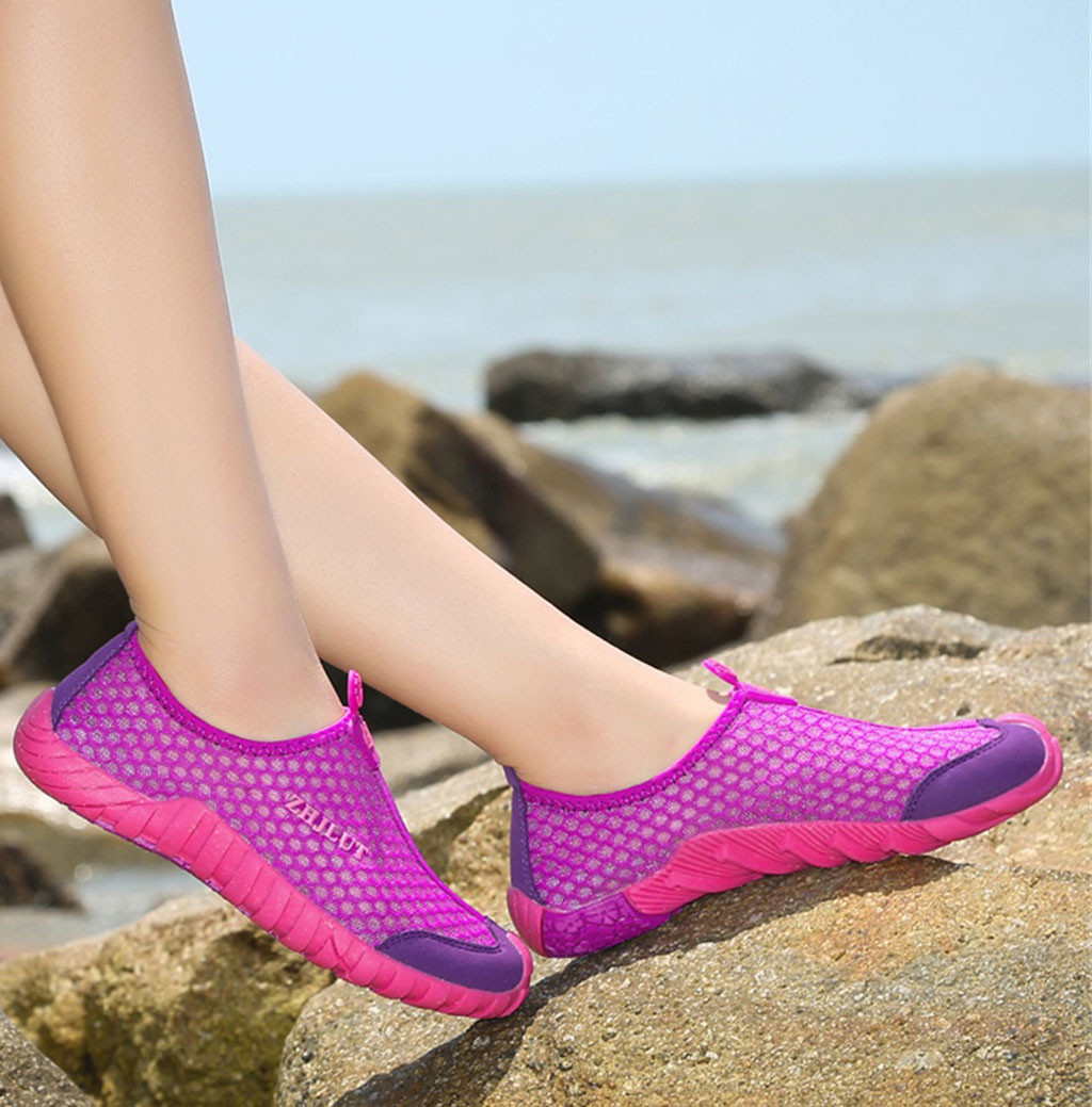 sneaker women shoes Outdoor Quick-Drying Upstream Shoes Non-Slip Breathable Mesh Hiking walking Shoes For Women chaussures femme(China)