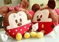 Mickey Minnie plush cushion pillow doll circular body cartoon dolls Car siesta pillow 1pcs free shipping