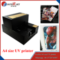 Factory offer the A4 size UV printer for hard material to print and RIP software included ,DHL/Fedex shipping free
