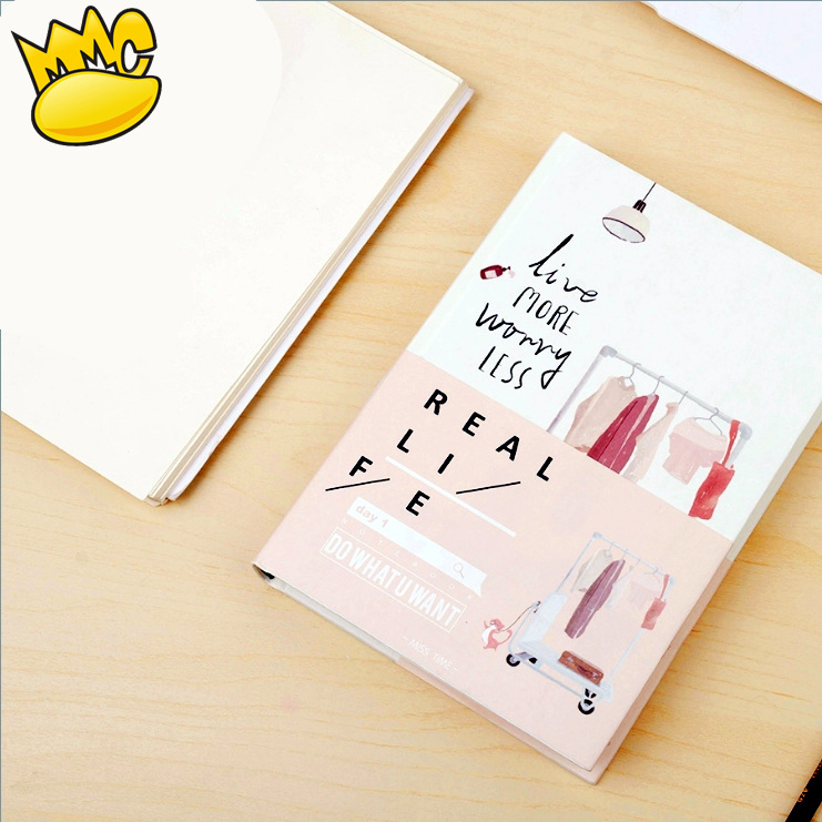 Real Life Big Planner Notebook Beautiful Diary Study Journal Business Agenda Memo Hard Cover