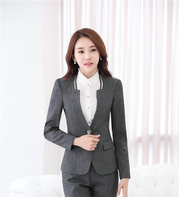 9656c1829 New Professional Ladies Office Work Wear Blazers Outwear Long Sleeve Autumn  Winter Business Women Blazer Coat Uniforms Jackets-in Blazers from Women's  ...