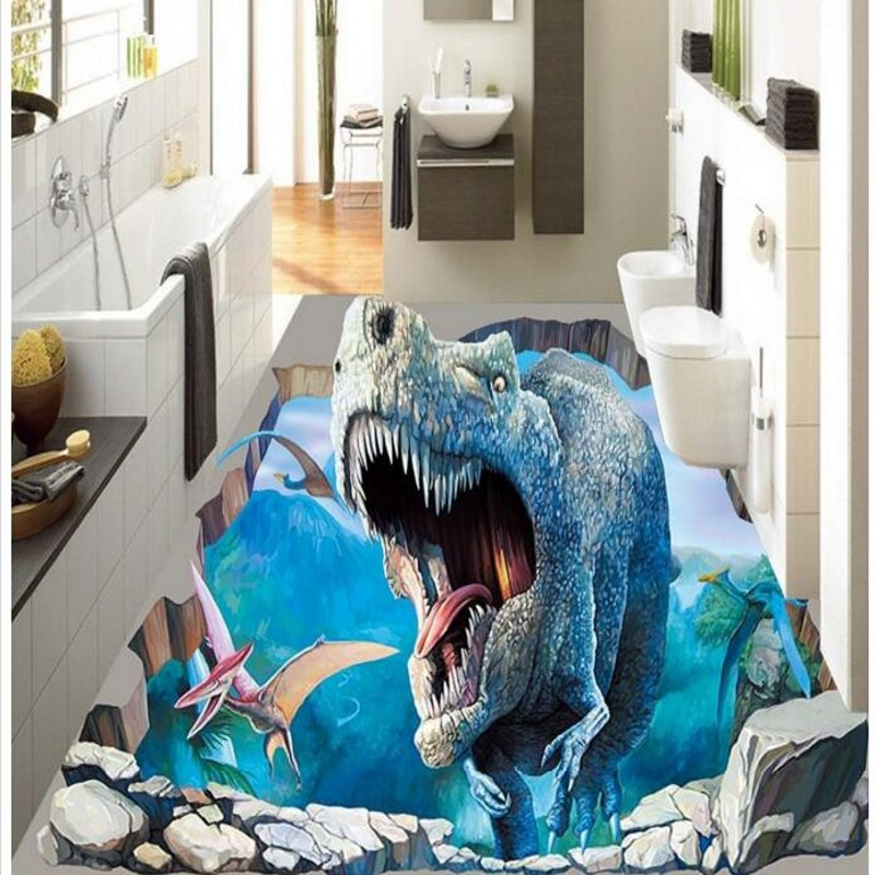 beibehang niestandardowych osobowo ci ogromne 3d high definition dinozaur wiata naklejki 3d. Black Bedroom Furniture Sets. Home Design Ideas