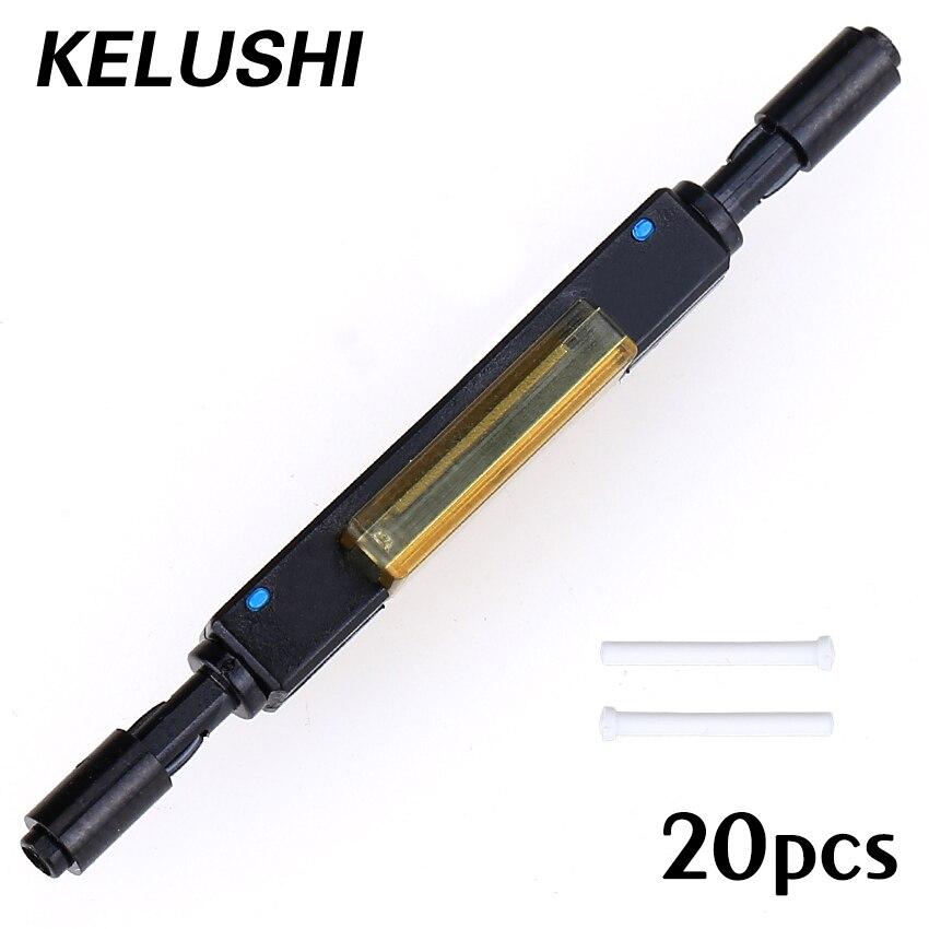 bilder für 20 teile/lose Freies Verschiffen L925B Fiber Optic Schnellkupplung für Drop Kabel Bare Liefern Optische Faser Mechanischer Spleiß KELUSHI