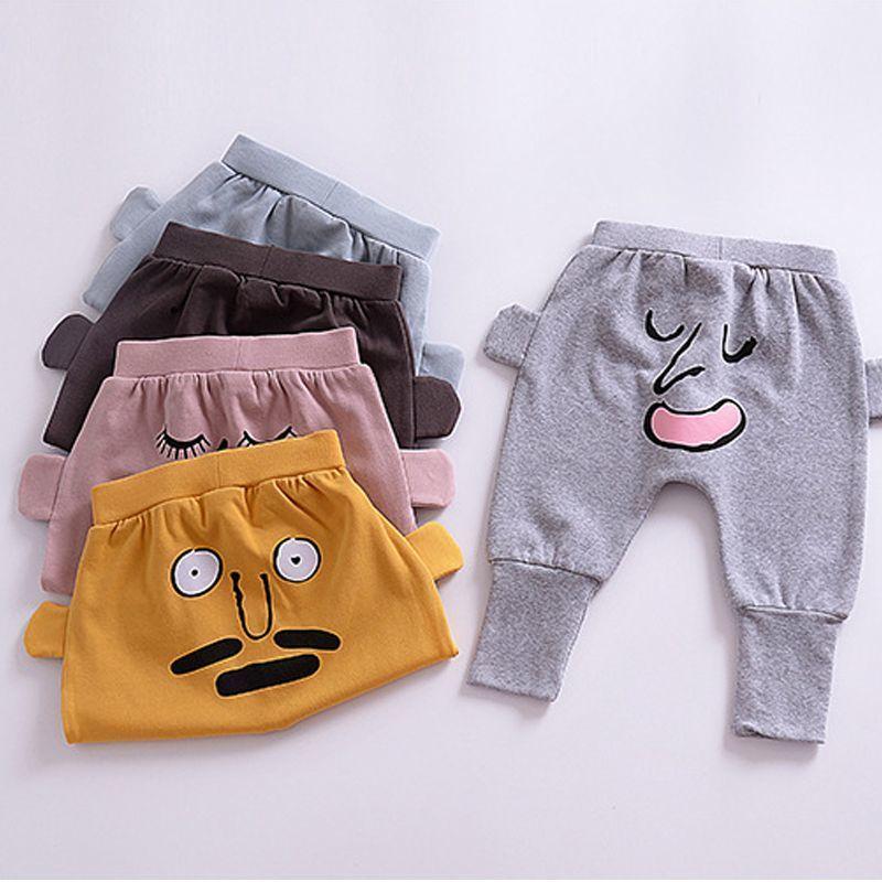 Casual Infant Toddler Bottoms Pants Infant Cartoon Harem Pants Baby Boy Trousers