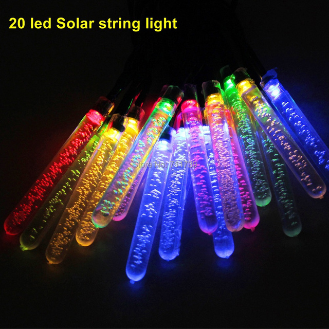 5set 20 LED Nergia Solar Lamp Solar String Lights Decoration LED Garden  Decoration String Lamp Outdoor