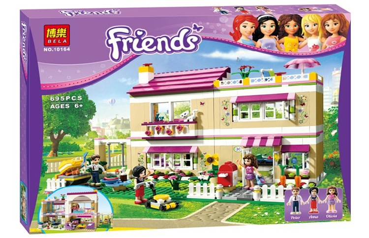 Olivias House 3315 Building Blocks Model Educational Toys For Children BELA 10164 Compatible Friends Bricks Figure SetOlivias House 3315 Building Blocks Model Educational Toys For Children BELA 10164 Compatible Friends Bricks Figure Set