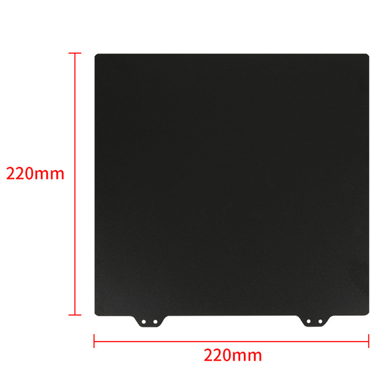 Image 4 - 3D Printer Hot Bed Accessories 220Mm Double Layer Texture Pei Powder Steel Plate + Magnetic Sticker B Surface For Anet A8 A6 W-in 3D Printer Parts & Accessories from Computer & Office