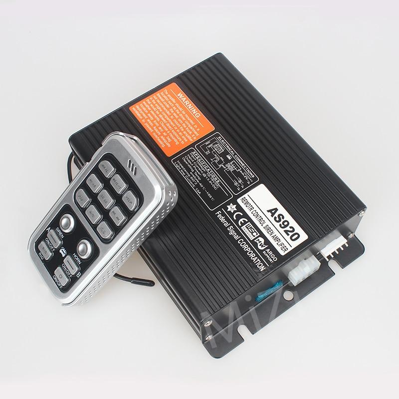 DC12V télécommande sans fil 200 W voiture alarme sirène amplificateur 20 tons, 2 interrupteurs de lumière sirène de Police klaxon AS920 sans haut-parleurs