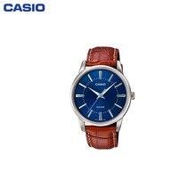 Наручные часы Casio мужские кварцевые на кожаном ремешке