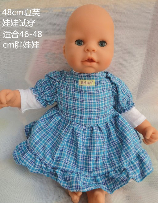 Doll Accessories Bottom clothing checkered skirt Wear fit 46cm Baby Born zapf for doll girls Gift