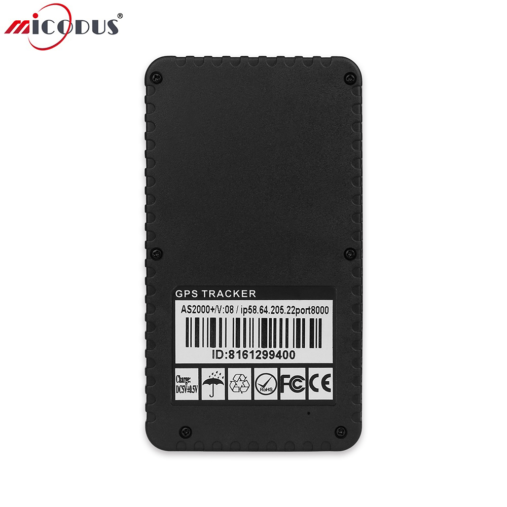 Car GPS Tracker AS2000 Plus + Strong Magnets Waterproof GSM GPRS Personal Tracking Locator 10000MaH Battery Long Standby 100 Day