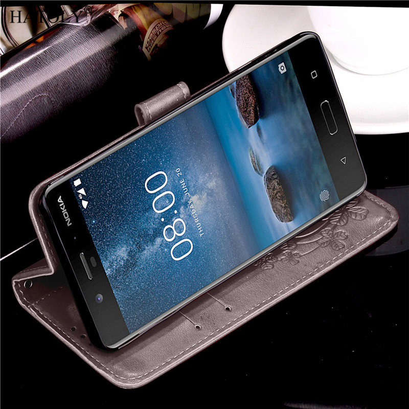 For Nokia 8 Case Cover Flip For Nokia 8 Flip Case Back Cover For Nokia 8 Bumper Case PU Leather TPU Wallet Case For Nokia 8 Capa in Wallet Cases from Cellphones Telecommunications