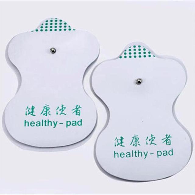 10pcs White Electrode Pads Digital Meridian instrument Acupuncture Therapy Machine Relaxation Connector for Slimming Massager C3 2