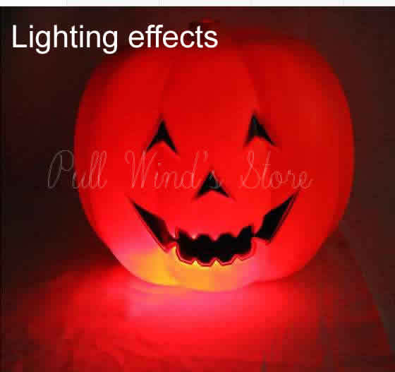 US $25 0 |Fun Pumpkin Night Light Halloween weird sound Nightlight  Halloween Props Pumpkin Decoration Magic light-in Night Lights from Lights  &