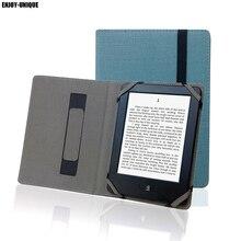 Doğal kenevir Pocketbook 6 inç eReader kapak keten Pocketbook 611 613 614 622 625 626 koruyucu kılıf kılıfı