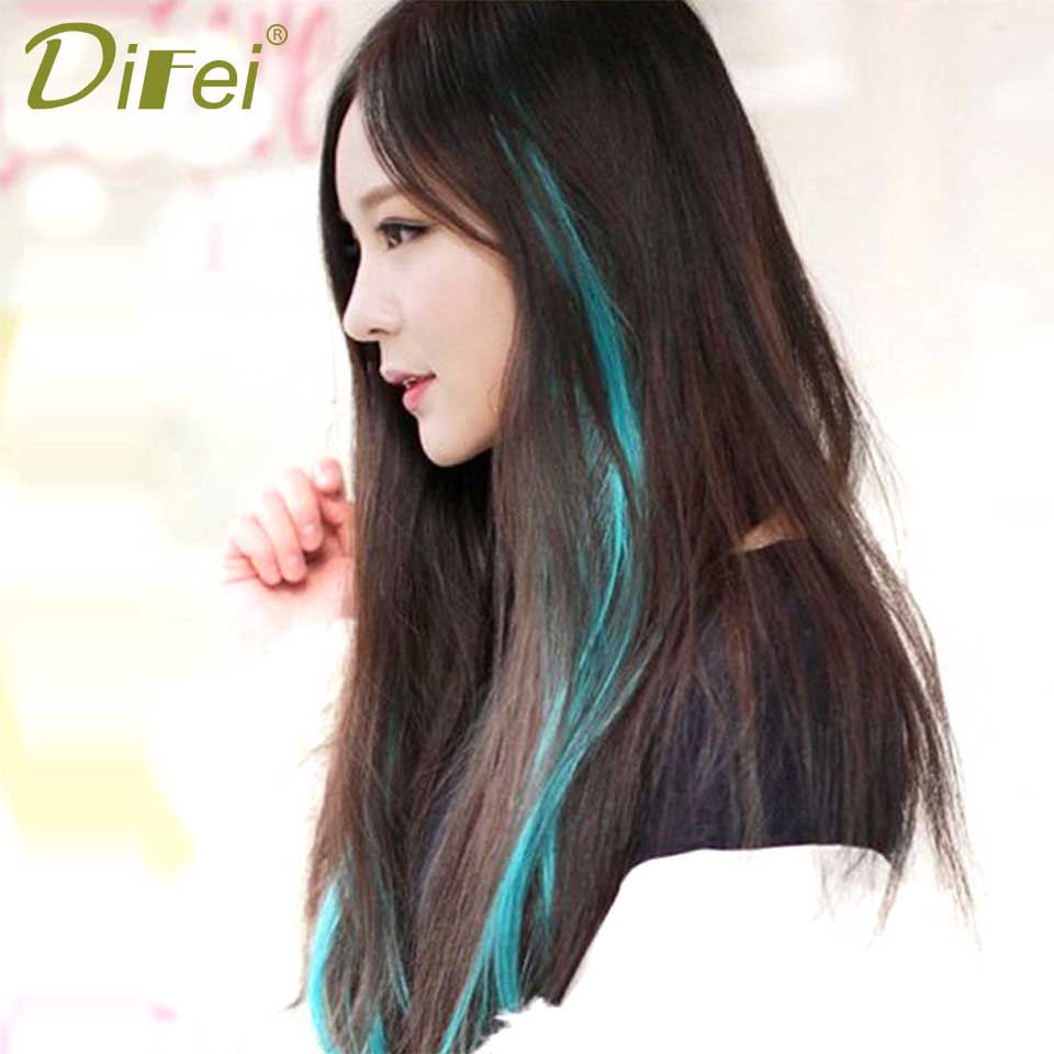 Hot Sale 1 Piece 1 Clip In Synthetic Hair Extensions Ombre 57 Colors