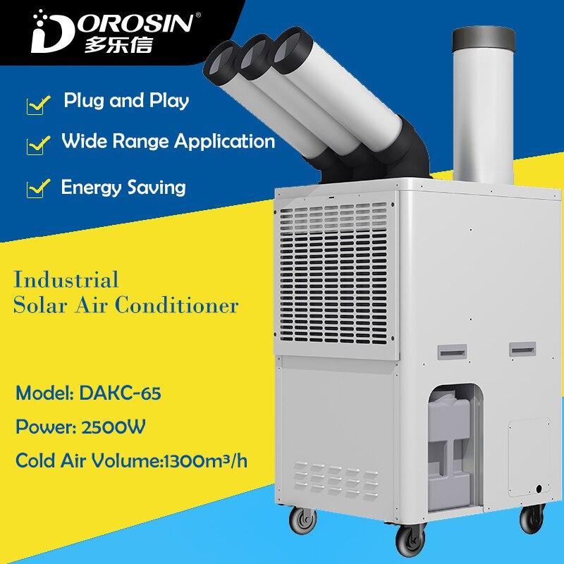 Froid Climatiseur DAKC-65 2500 W Puissance Industrielle Air Humidificateur D'air Froid Faisant La Machine Usine Équipement De Refroidissement