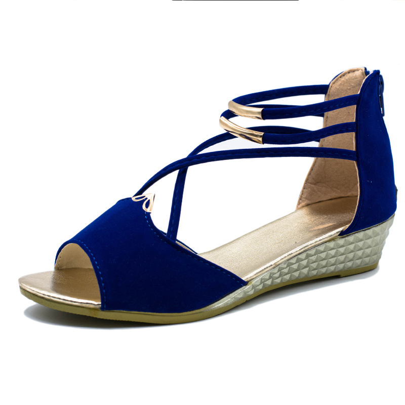 Women Shoes 2018 Summer Women Sandals Open Toe Flip Flops Womens Sandles Thick Heel Korean Style Gladiator Shoes