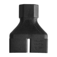 OOTDTY IEC 320 C14 Male To 2x US 3-Pin Nema 5-15R Female Y Splitter Adapter Converter New 2019