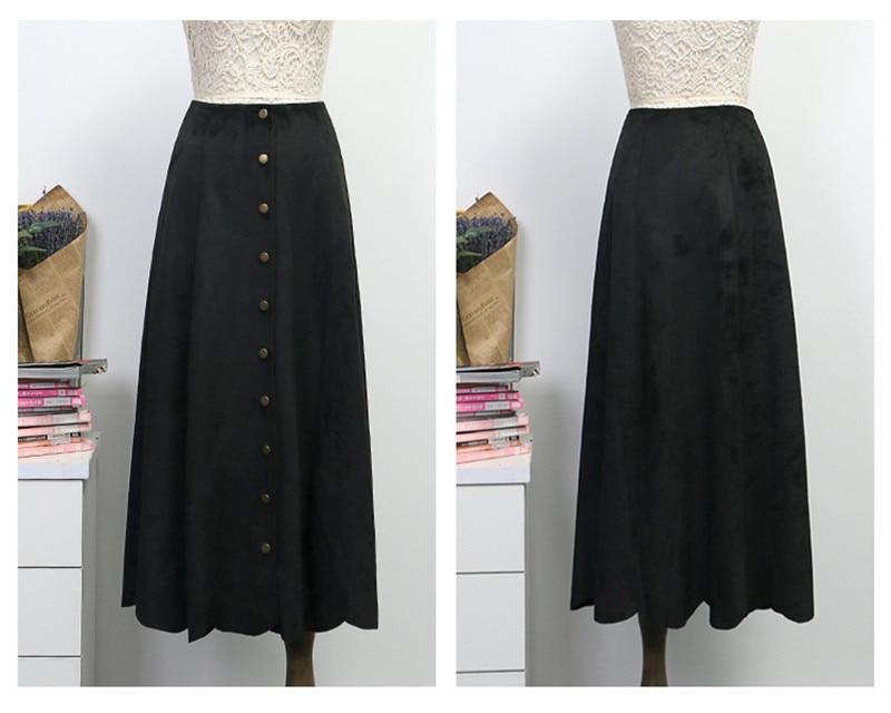 ... sobre que antes de comprar un Otoño Invierno de las mujeres de cintura  alta falda Saia Longa-Breasted Maxi falda Jupe Plus tamaño Vintage faldas  C3798 ... 370970de9387