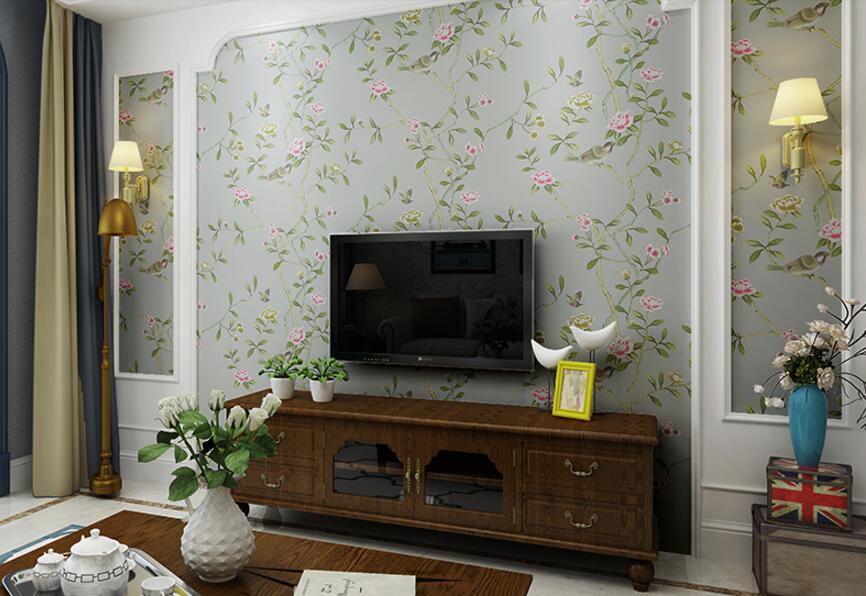papel de parede Quarto sala de estar sofá compacto