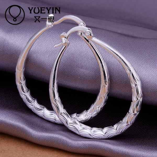 Zubehör Neue Design silber überzogene schmuck Weibliche der Hoop ohrringe Mode brincos Ohrbügel Zubehör Trendy Ornamente