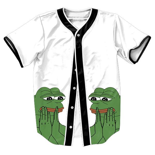 Pepe el Estilo Rana Jersey Verano con botones de impresión 3d Hip Hop Streetwear hombres camisetas tops camisa camisetas casuales