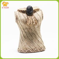 New Chinese wedding silicone mold plaster mold 3D candle mold cheongsam