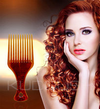 New Hair Company Tangle Hair Brush for Barbershop Hairdressers Tools Beautiful Candy Color Fork Comb Afro Pick Can Print logo(China)