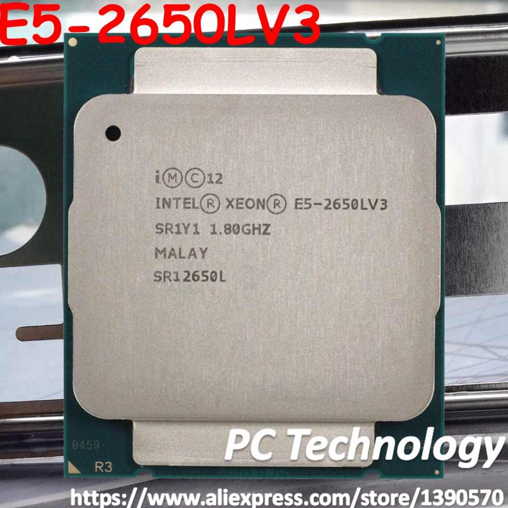 Original Intel Xeon Processor E5-2650LV3 OEM Version 1.8GHz 12-Core 65W 30M E5 2650LV3 Desktop CPU E5 2650L V3 free shipping