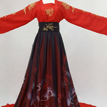 7ef9f2006 Black Red Embroidery Lycorisradiata Princess Fairy Hanfu Costume Cosplay for  TV Play Winter Fur Thick Cloak
